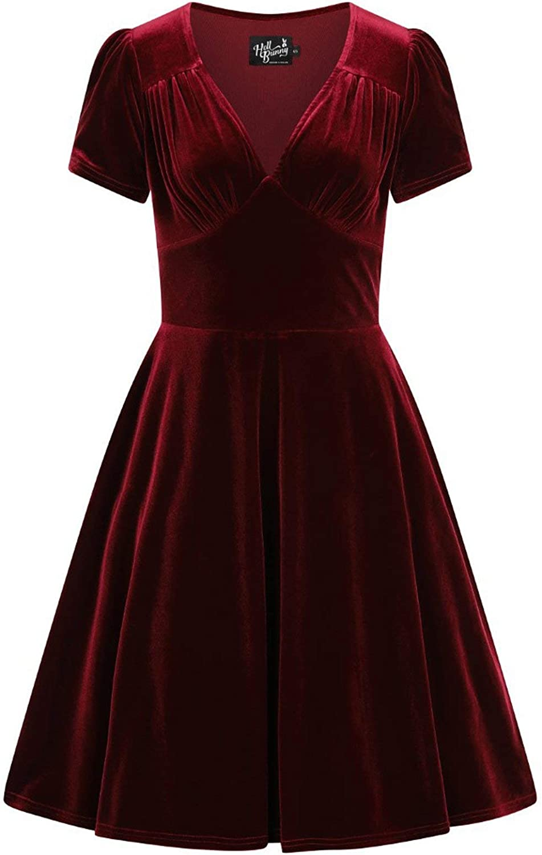 Hell Bunny Joanne Velvet Xmas Party Dress