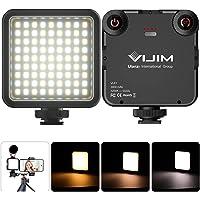 VIJIM VL81 videobelysning på kamera med 3 fästen för blixtsko och mini LED:s med mjukare ljus färgtemperaturer…
