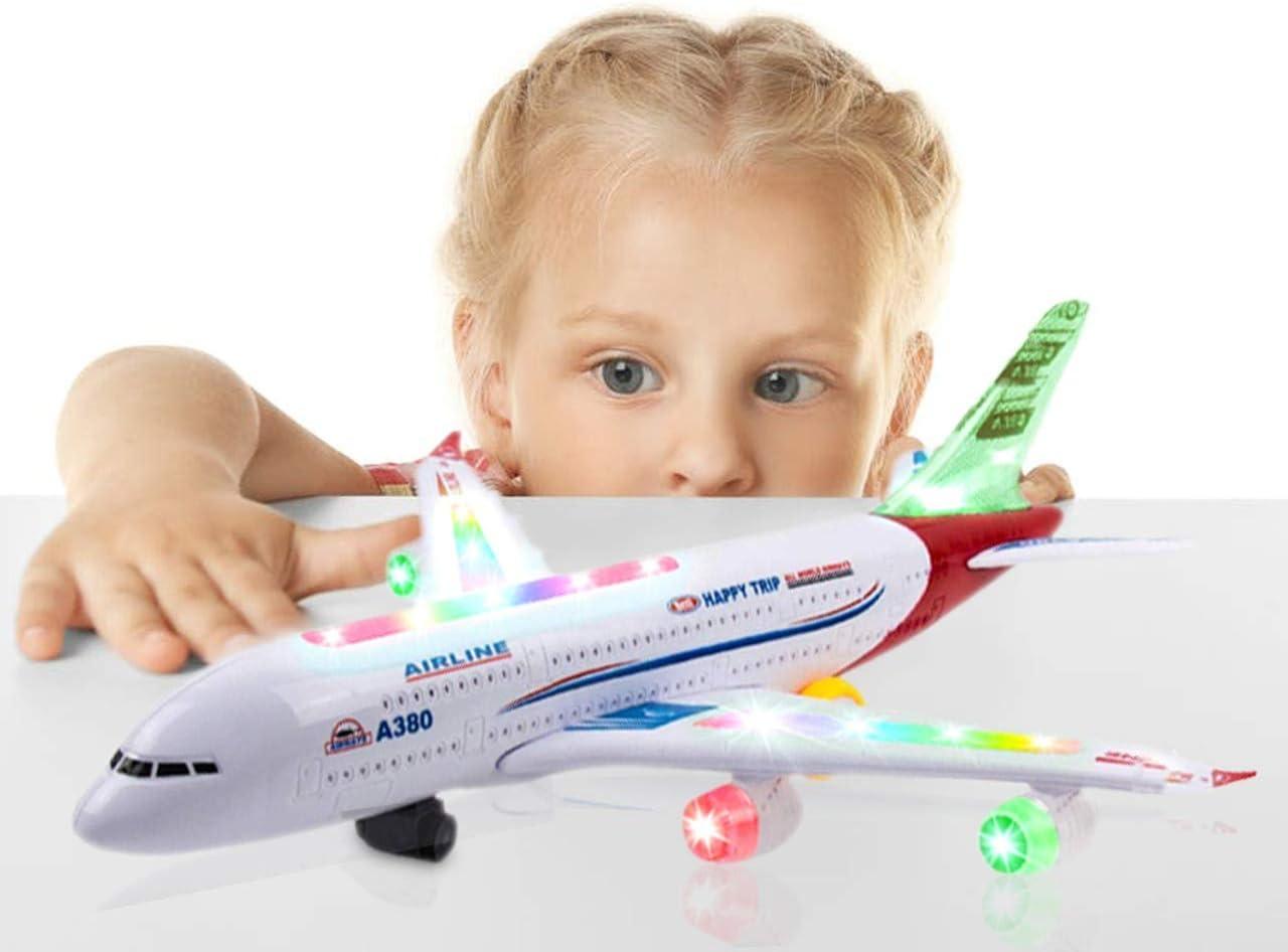 Plastic Air Bus Model Pull Back Airliner Passenger Plane Toy ZJHN