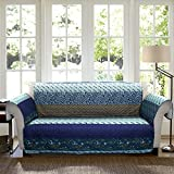 Lush Decor Royal Empire Slipcover/Furniture Protector for Loveseat, Peacock