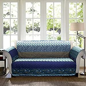 Lush Decor Royal Empire Slipcover Furniture Protector For Sofa Peacock Home Kitchen