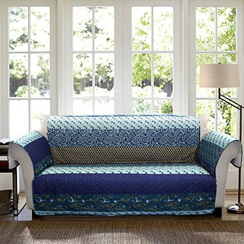 Lush Decor Royal Empire Slipcover/Furniture Protector for Sofa, Peacock