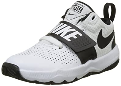 647917c99729 Image Unavailable. Image not available for. Color  Nike Boy s Team Hustle D  8 (PS) Pre School Basketball Shoe White Black