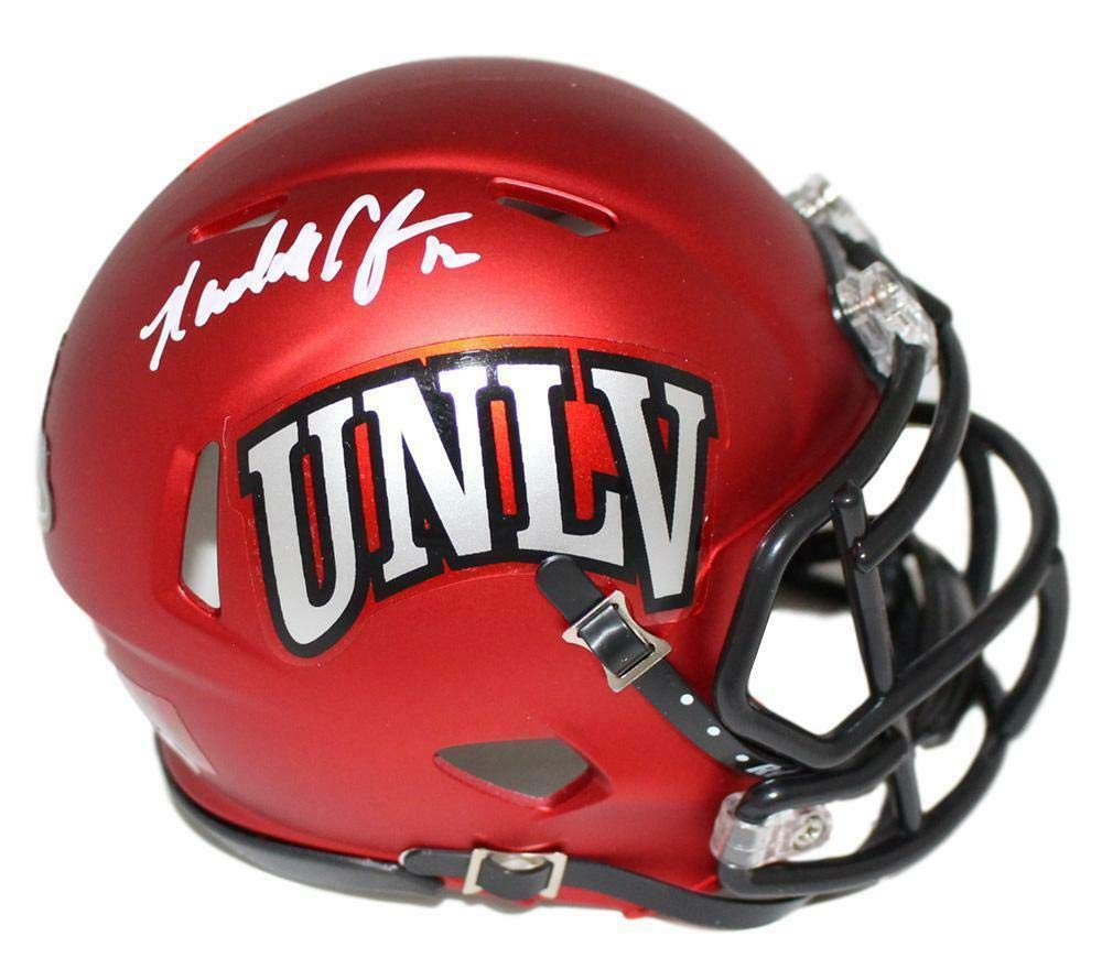 reputable site d26e5 26c97 Amazon.com: Randall Cunningham Autographed UNLV Rebels Red ...