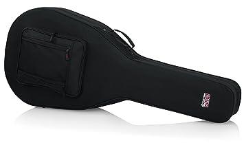 GATOR GL-JUMBO - Estuche para guitarra acústica, color negro