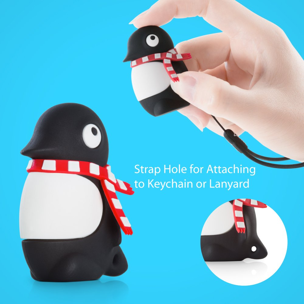 [Apple MFi Certified] 2-in-1 Lightning/USB 3.0 64GB Flash Drive for iPhone iPad iPod Mac PC, Bone Collection iOS OTG Memory Stick Thumb Drive Novelty Cute Animal Cartoon Design - Penguin by Bone (Image #4)