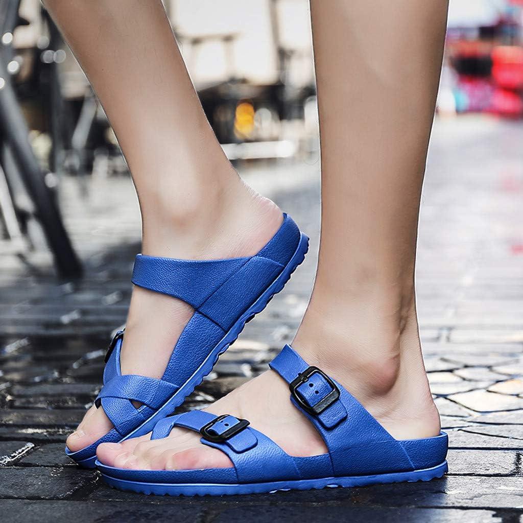 Women Summer Casual Couples Flats Sandals Soft Outdoor Comfy Antiskid Slippers Beach Shoes Fashion Flip-Flops