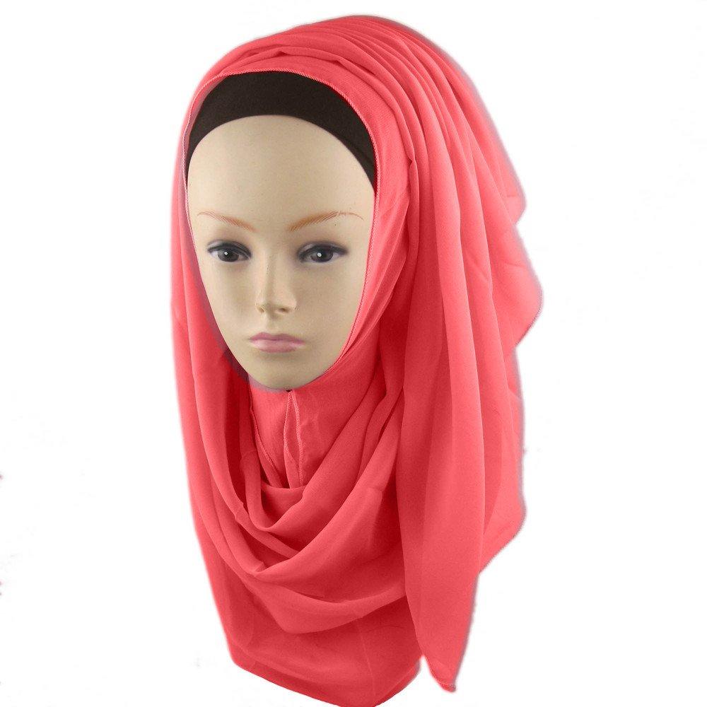 Women KIKOY Chiffon Long Scarf Muslim Hijab Arab Wrap Shawl Headwear wholesale by KikoyClothingAccessories (Image #2)