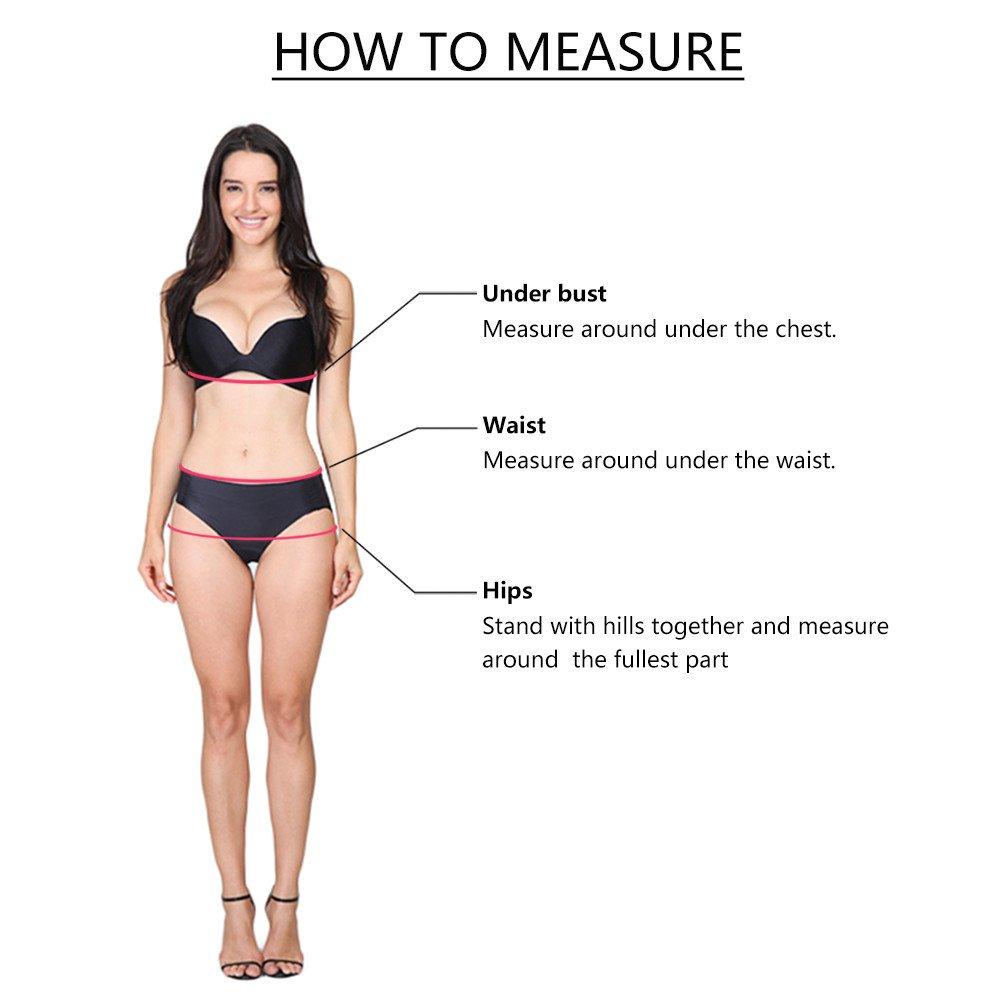 Duseedik Women's Swimsuit Sexy Polka Dot Bow Detachable Padded Cutout Push up Striped Bikini Set Blue by Duseedik (Image #6)