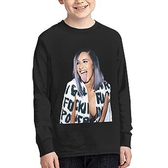 Kilsd Boys /& Girls Junior Particular Cardi B Long Sleeve T Shirt Black