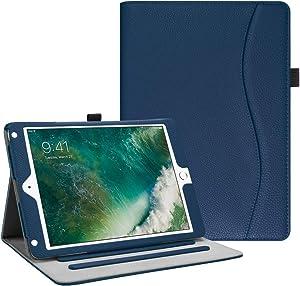 Fintie Case for iPad 9.7 2018 2017 / iPad Air 2 / iPad Air - [Corner Protection] Multi-Angle Viewing Folio Cover w/Pocket, Auto Wake/Sleep for iPad 6th / 5th Gen, iPad Air 1/2, Navy