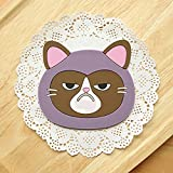 Coasters - Cartoon Cat Coasters, Silicone Placemat Cushion, Mug Tableware Cup Tea Cup Pad Mat (Style : #4)