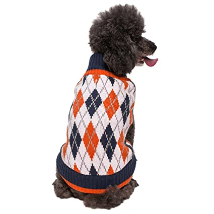 Blueberry Pet Chic Argyle All Over Dog Sweater