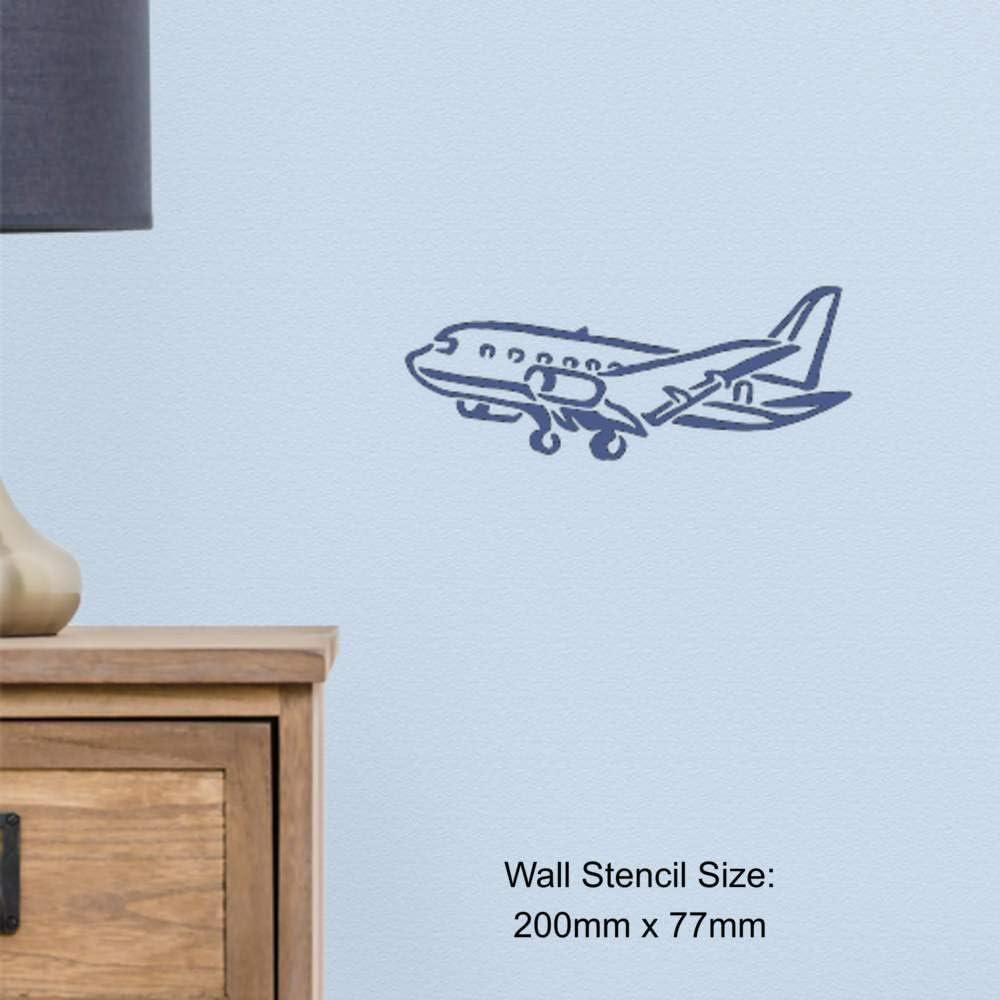 Grand A2 Avion Pochoir Mural WS00017620