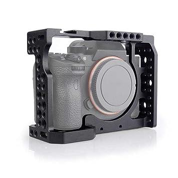 KOBWA Jaula de cámara de Aluminio con Zapato de frío estándar para ...