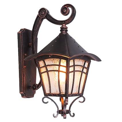 CCF Lámpara de Techo de Hierro Forjado al Aire Libre ...