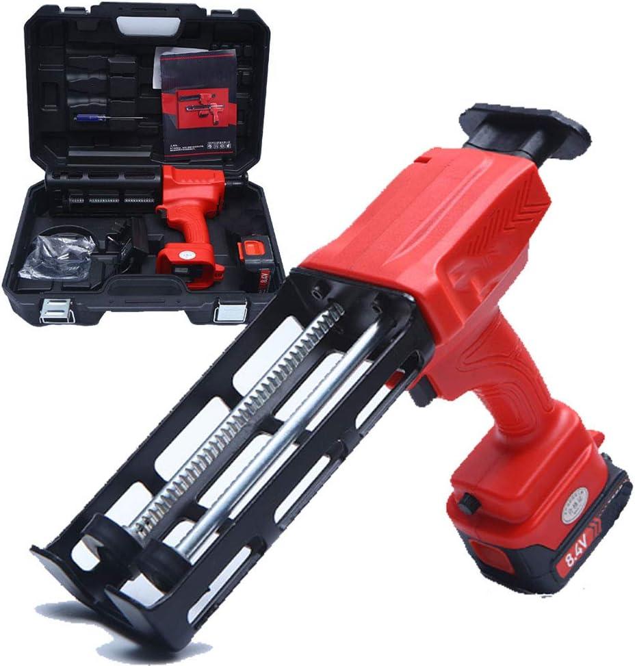Pistola para calafatear eléctrica Pistola para calafatear automática de doble barril recargable 8.4 V