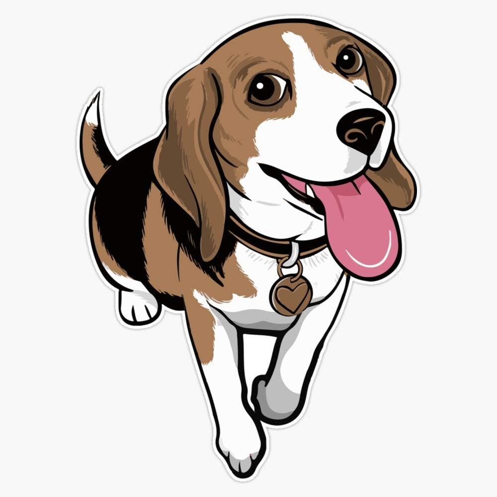 "Beagle Cartoon Funny Beagles Dogs Stickers Sticker Vinyl Waterproof Sticker Decal Car Laptop Wall Window Bumper Sticker 5"""