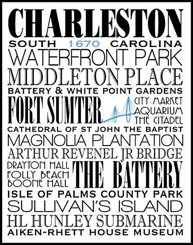 Charleston South Carolina Subway Art Print