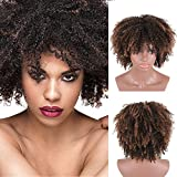 CNicehair Afro Synthetic Wigs Kinky Curly Short Hair For Black African American Women Costume Cosplay Party Wigs Dark Brown