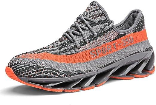 CAI Zapatillas de Punto de los Hombres 2018 Primavera/Otoño Nuevos Pares de Zapatos Zapatos cómodos de los Deportes Hombres/Mujeres Tendencia Zapatillas de Deporte Ocasionales: Amazon.es: Jardín