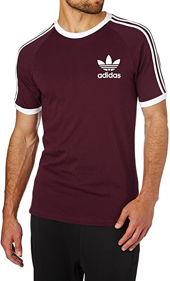 tee shirt adidas rouge homme