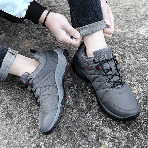 Backpacking Climbing Running Sneakers FLARUT Hiking Men Grey Boots Trekking Sports Shoes Outdoor WXR8Zq