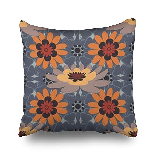 Hitime Fundas de almohada con patrón geométrico de rosas ...