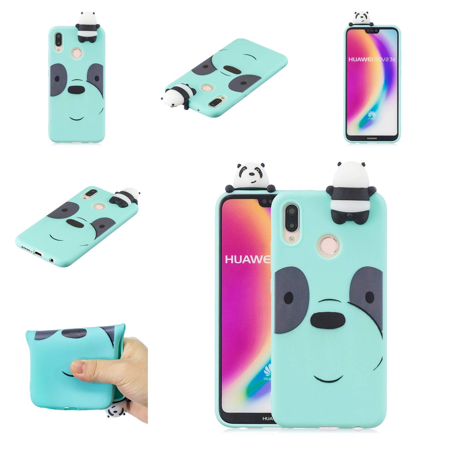 Amazon.com: Maoerdo Huawei P20 Lite Funda, 3D lindo animal ...