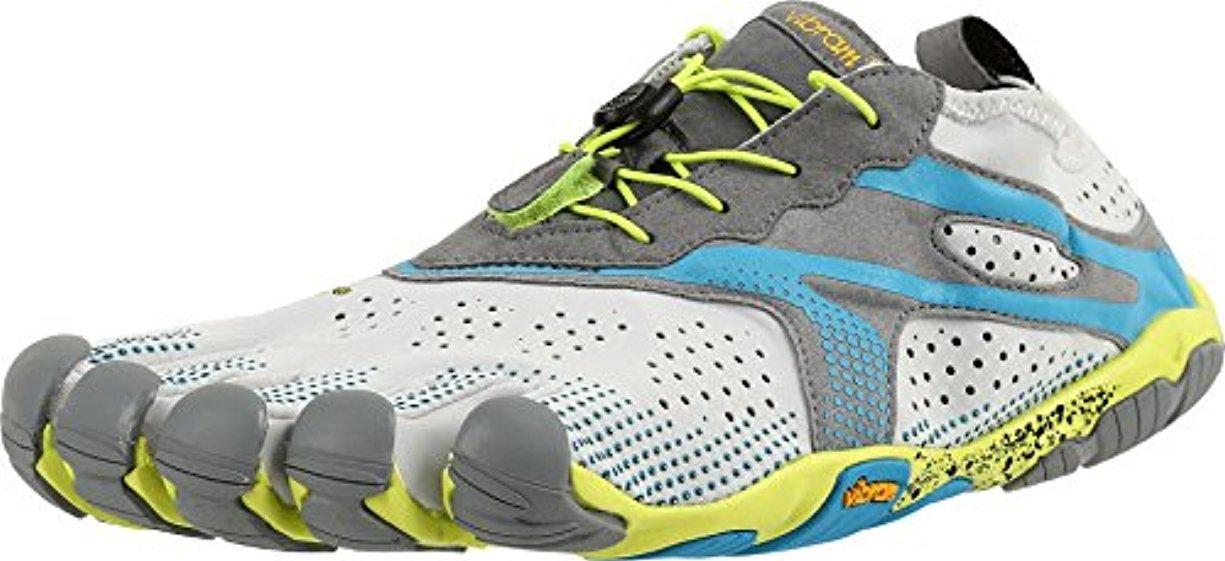 Vibram FiveFingers Men's V-Run Barefoot Shoes & Toesock Bundle B01LXR5Y5W 50 M EU Oyster