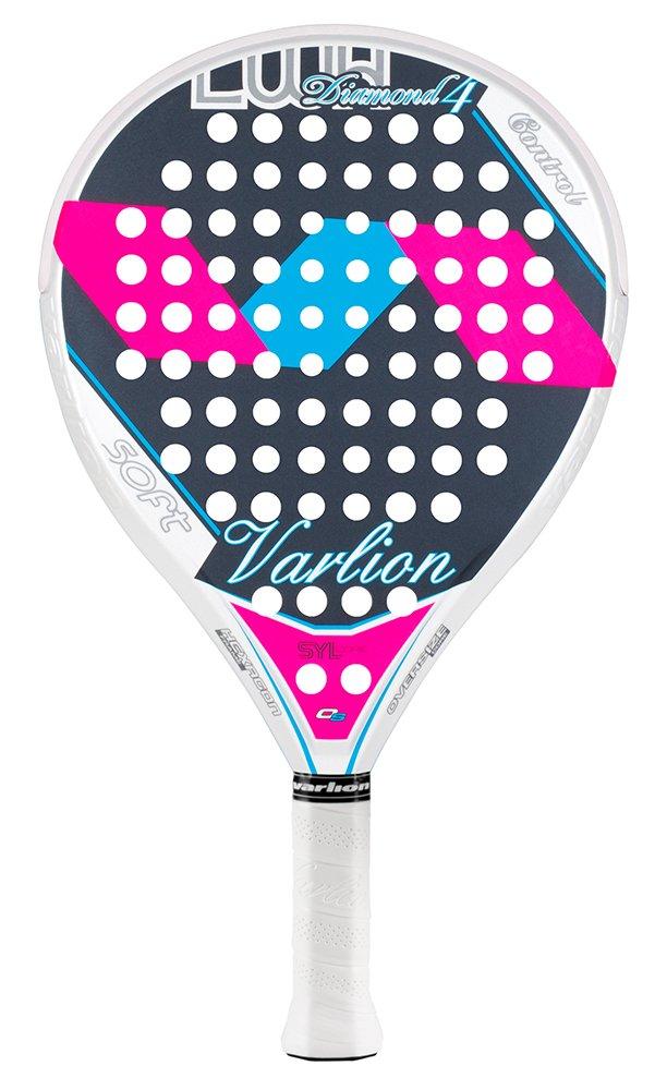 Varlion LW H Diamond 4 - Pala de pádel, Mujer Adulto, Fucsia/Azul, 365-370 gr.: Amazon.es: Deportes y aire libre