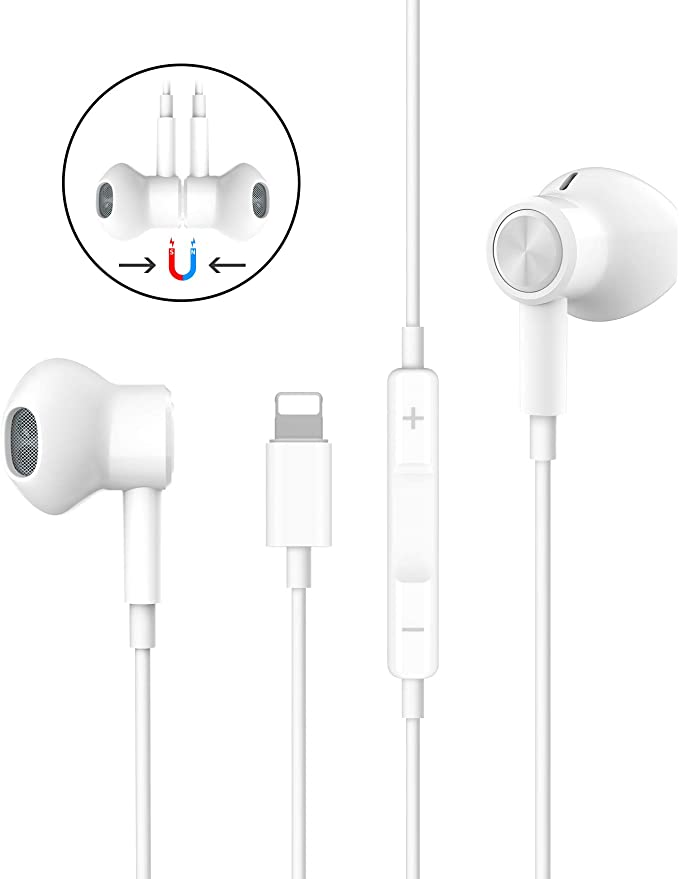 Headphones For Iphone Hifi Stereo Earphones For Iphone 7 Magnetic Wired Earbuds With Mic And Volume Control Compatible With Iphone 11 11 Pro Max Iphone X Xs Max Xr Iphone 8 8 Plus Iphone 7 7 Plus