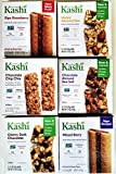 KASHI Snack Bars ULTIMATE VARIETY PACK: 1 Box Each of: GRANOLA & SEED CHOCO CHIP CHIA, HONEY OAT FLAX, CHERRY DARK CHOCOLATE, CHOCOLATE ALMOND & SEA SALT, MIXED BERRY, RIPE STRAWBERRY (6 PACK)