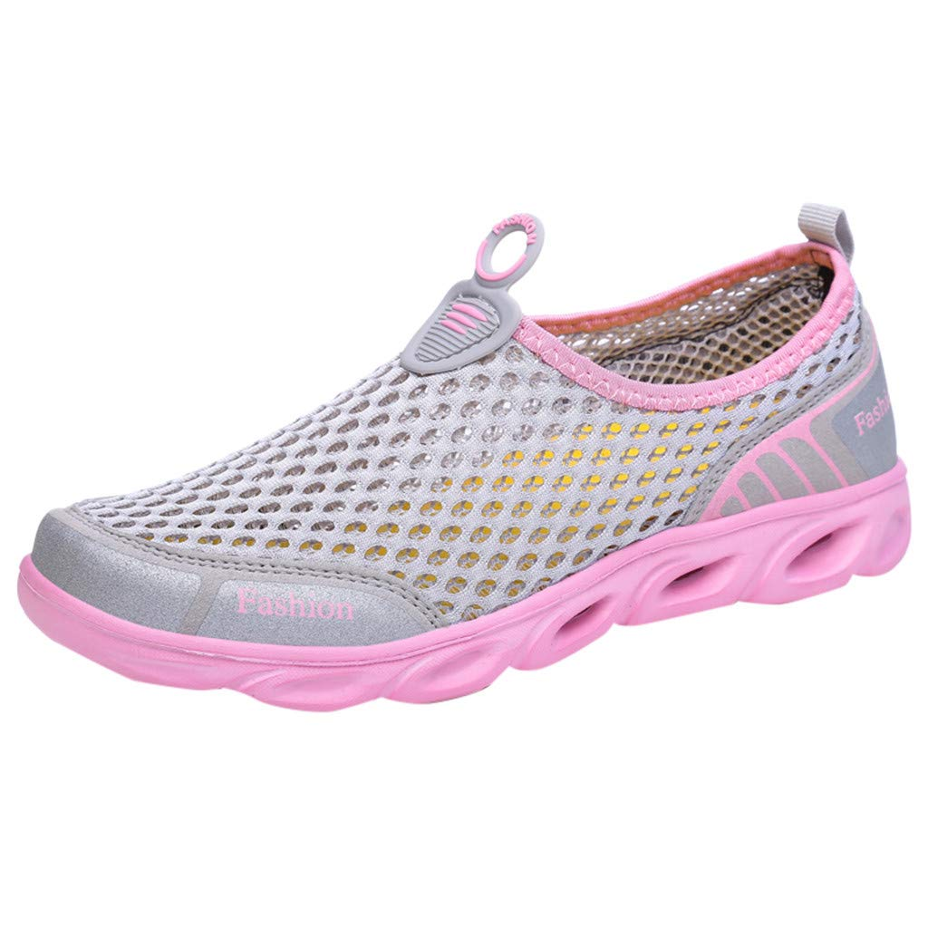 Mother's Day Sale Jiayit Women's Men's Outdoor Flat Sneaker Shoes for Couple Comft Mesh Lace-Up Casual Sports Shoes Run Breathable Shoes Hiking Camping Sneakers