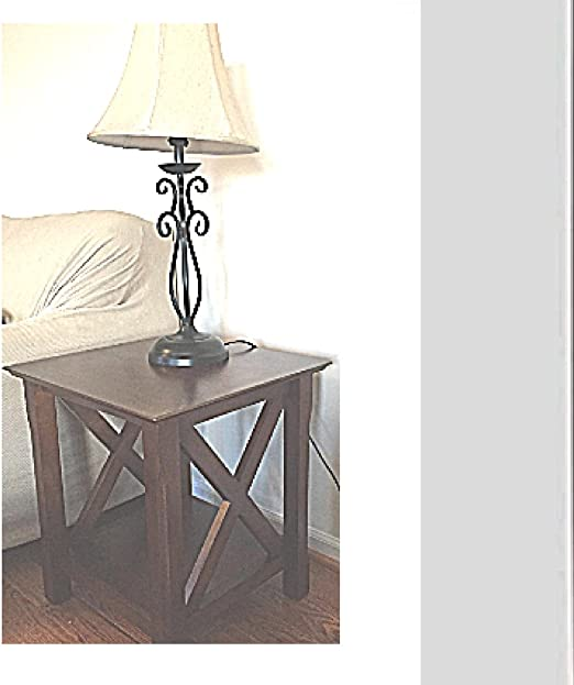 Amazon Com Farmhouse End Table With Storage Shelf Living Room Bedroom Decor Rustic Traditional Ebook By Oistria Kitchen Dining