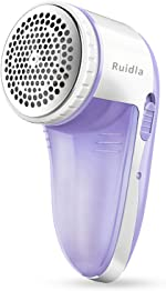 Ruidla Fabric Shaver Defuzzer, Electric Lint Remover, Rechargeable Sweater Shaver with