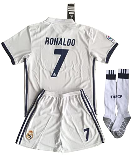 reputable site ff3ac a9e95 Buy Real Madrid Kid's Ronaldo 7 Soccer Polyester Jersey Set ...
