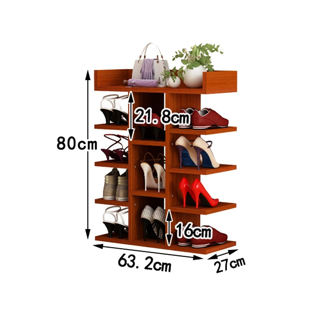LQQGXL Shoe Rack Organizer Storage, Simple Multi-Storey Wooden Racks, Solid Wood high-Capacity Shoe, Home Shoe Rack. (Size : 63.22780cm)