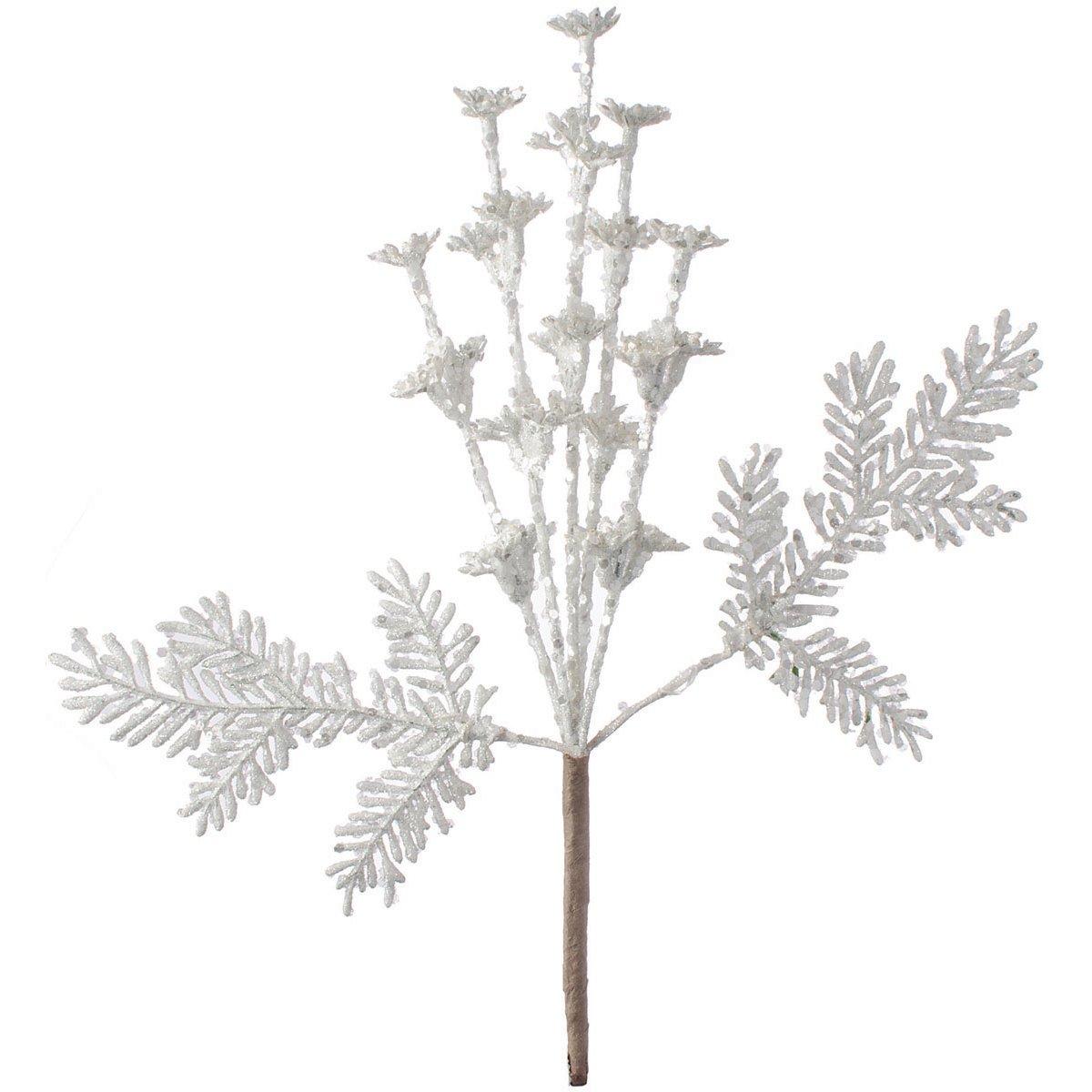 Darice White Christmas Pick Glitter 7.9 X 12 Inches 378346