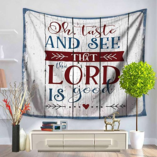 YQ Park Striped Denim Tapestry English Letters Simple Decorative Tapestry Wall Hanging Tapestry Home Decoration -