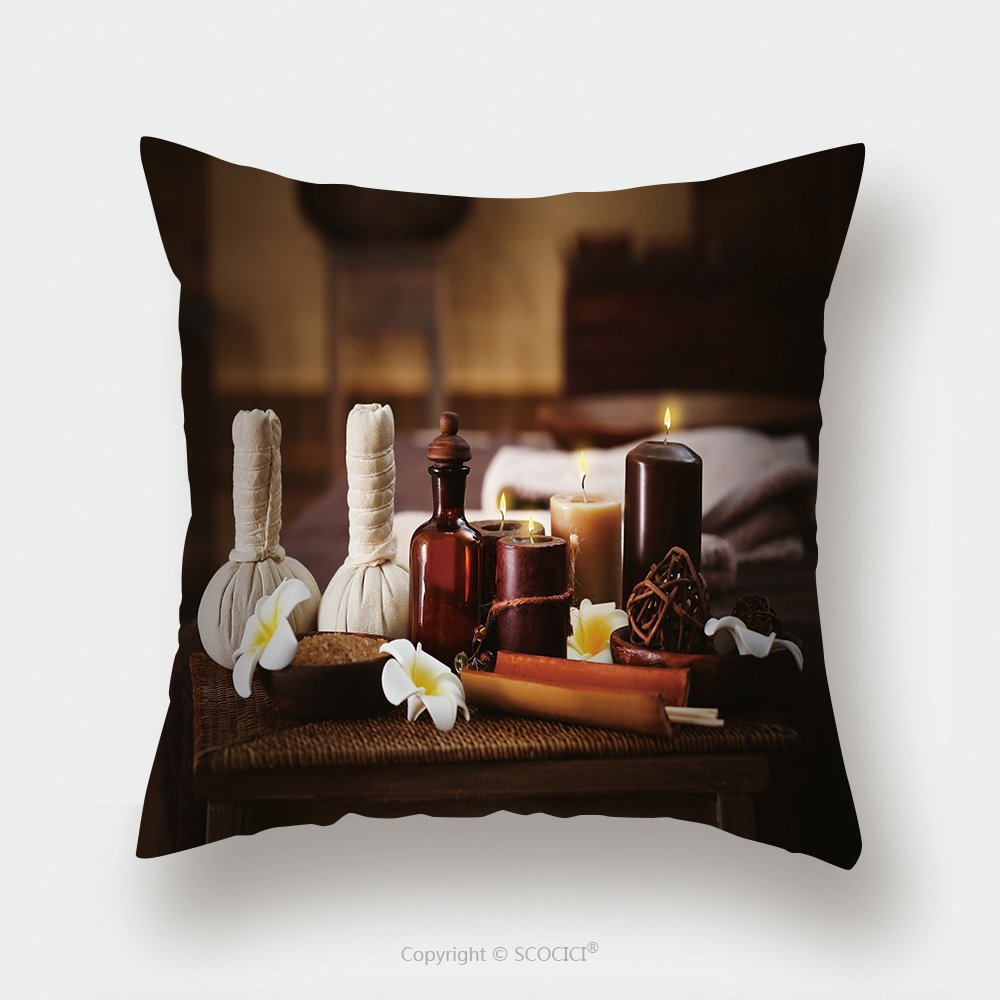 Custom Satin Pillowcase Protector Spa Massage Setting Close Up 422867983 Pillow Case Covers Decorative