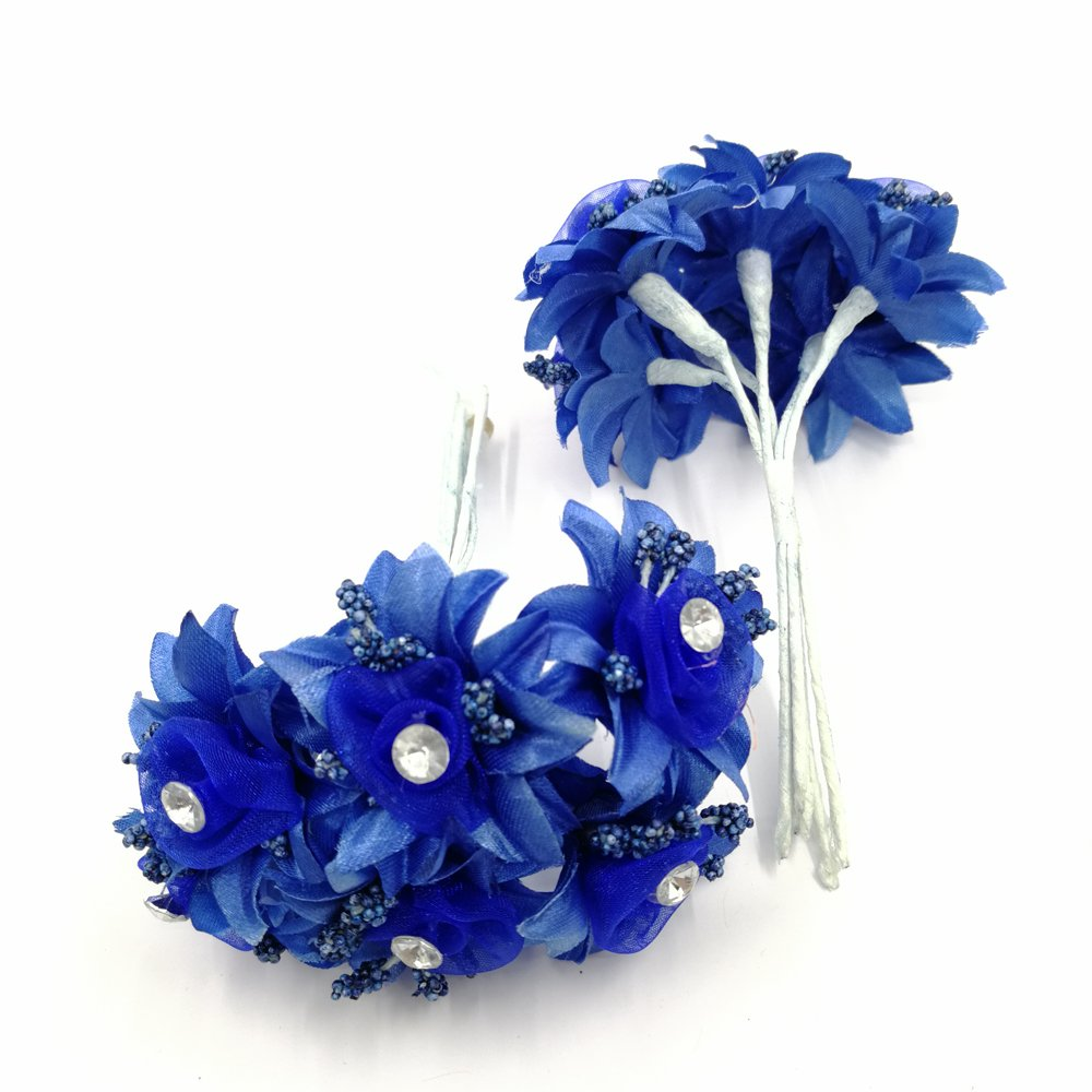 30-PCS-Mini-Rose-Artificial-Silk-DIY-Holiday-Accessories-Flower-Diamond-Bouquet-For-Wedding-Decoration-Scrapbooking-Flower-royal-blue