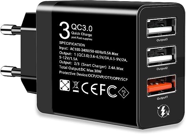Qc3 0 Usb Ladegerät Quickcharge3 0 Netzteil Elektronik
