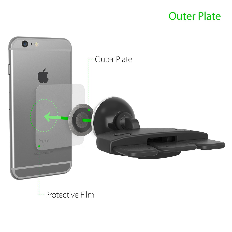 iOttie iTap Magnetic CD Slot Premium Car Mount Holder for iPhone X 8//8s 7 7 Plus 6s Plus 6s 6 SE Samsung Galaxy S9 Plus S9 Plus S8 Edge S7 S6 Note 8 5 HLCRIO152RT