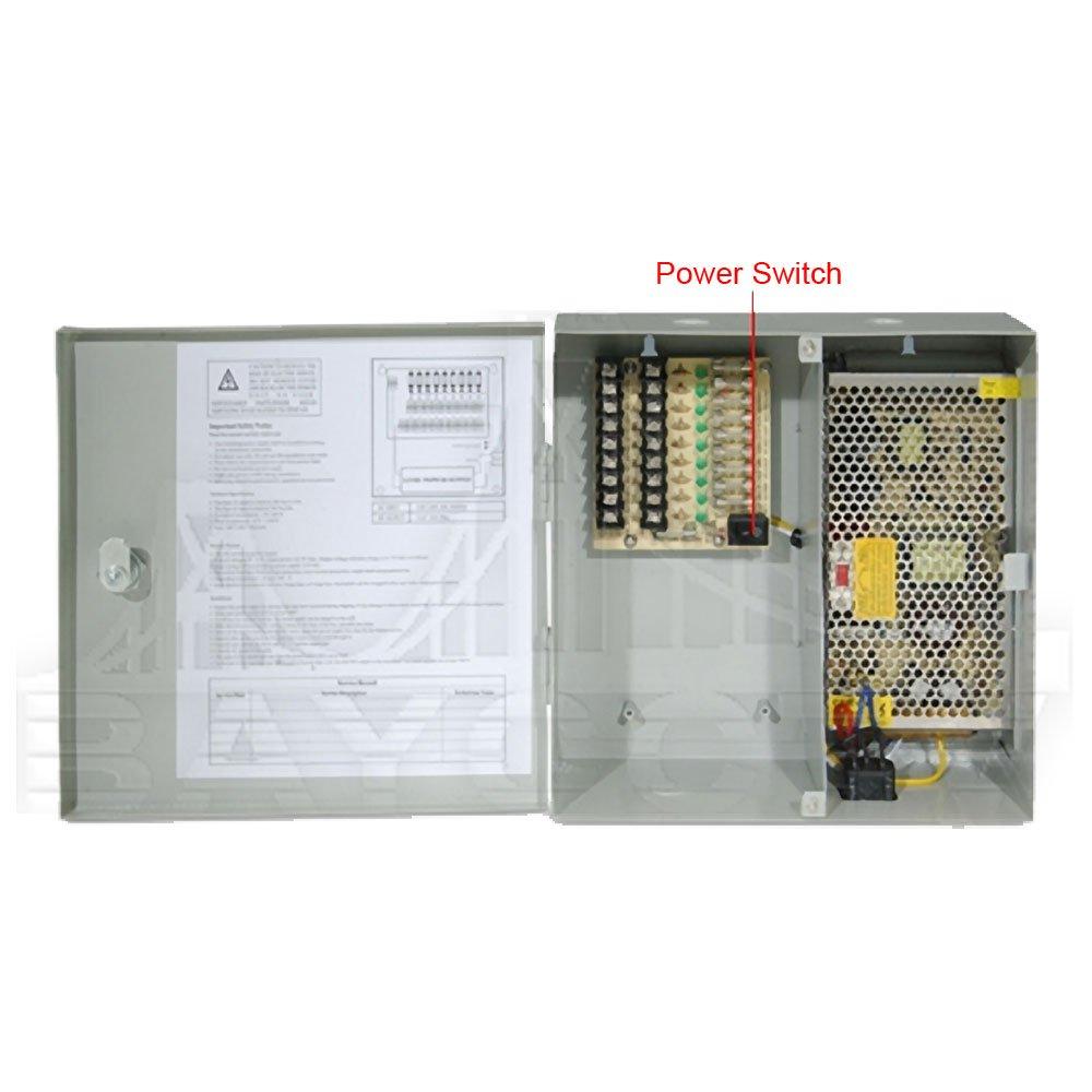 Q-See (Certified Refurbished) QS1009 12v DC 12 AMP Power Distribution Panel - 18 Ports