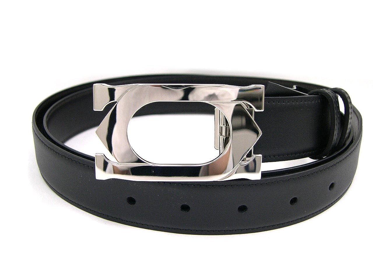 CARTIER L5000418 リバーシブル メンズベルト カーフ ブラック×ダークブラウン  (並行輸入) B008HY1NW0