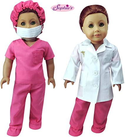 US Doll Doctor Nurse Clothes Outfit Set for 18 Inch Our Generation Boy Girl Doll
