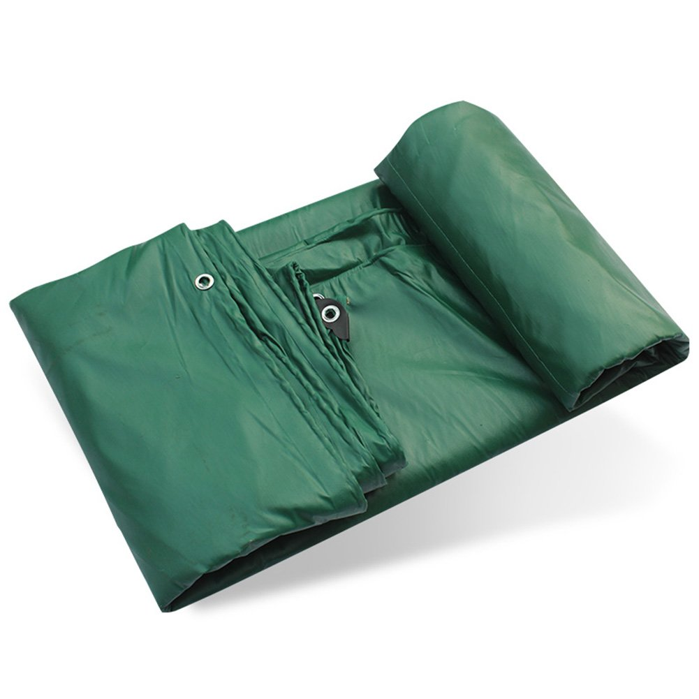 ZHANWEI ターポリンタープ Tarp テント タープ 厚い防水布オーニング 雨篷 耐寒性 厚い オーニング PVCコーティング布 グルー 日焼け止め リノリウム シェード トラック、 緑 (色 : Green, サイズ さいず : 4x5M) B07FYFY1XN 4x5M Green Green 4x5M