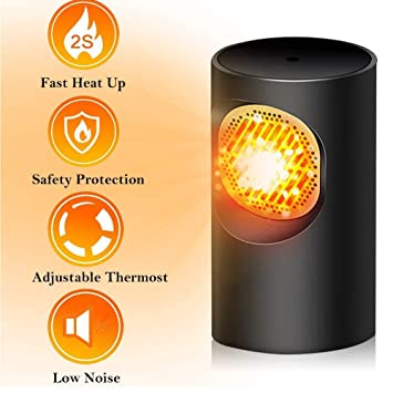 Wuudi Mini calentador de ventilador eléctrico, calentador de ...