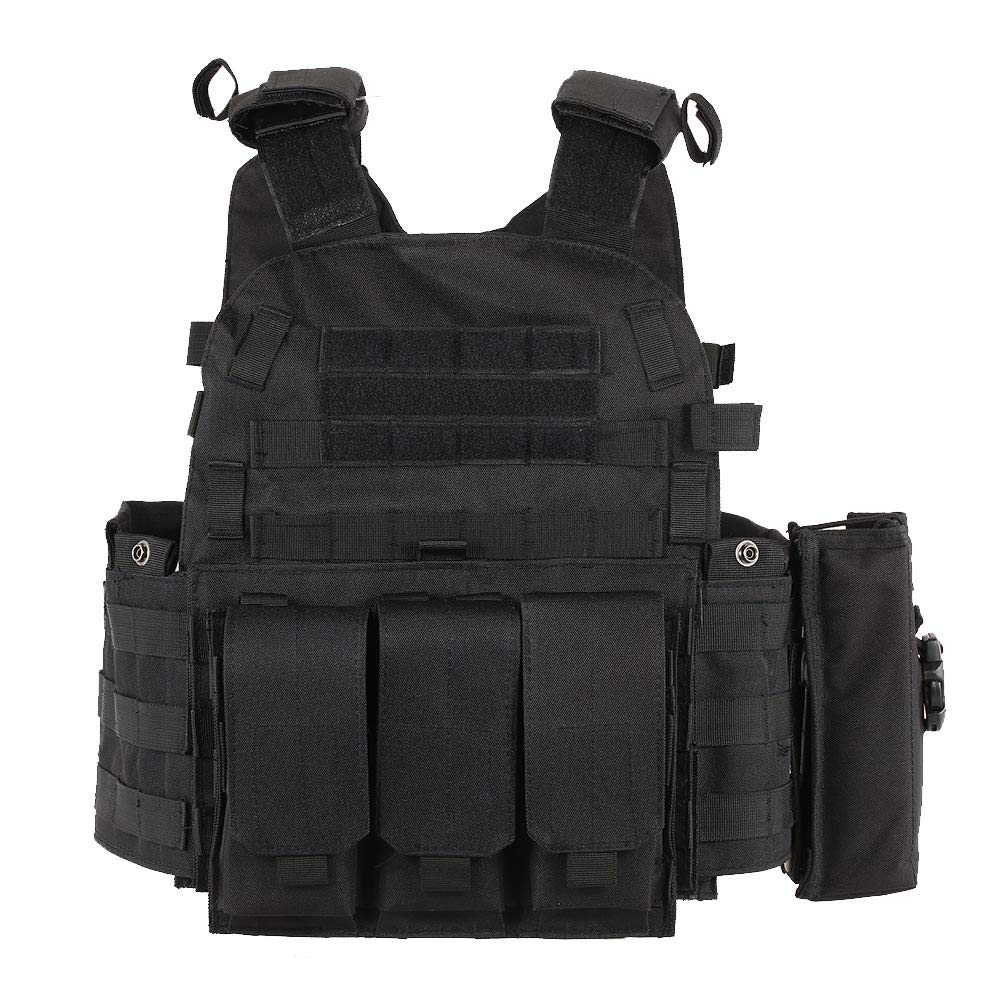 Walmeck Outdoor Mens Modular Molle Vest Outdoor Chest Rig Gear Load Carrier Vest with Hydration Pocket